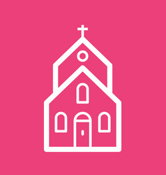 Church building i vector