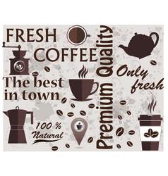 coffee shop logo coffee elements texture food vector image