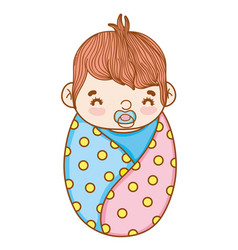 cute baby cartoon vector image