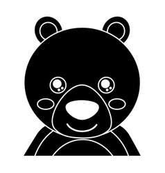 Cute portrait bear animal baby with close eyes vector