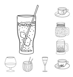 design of drink and bar sign collection of vector image