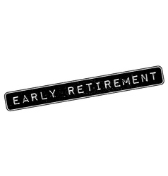Early Retirement rubber stamp vector