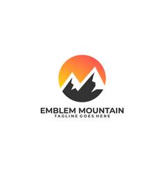 emblem mountain design template vector image