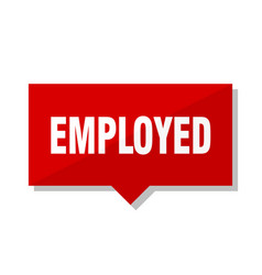 Employed red tag vector