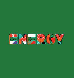 energy concept word art vector image