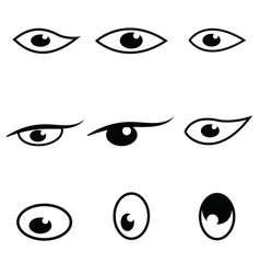eyes icon set vector image