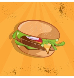 Fast food with burger vector