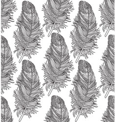 feather seamless pattern american native ornament vector image