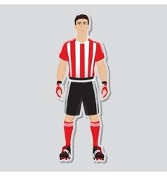 Football soccer player vector