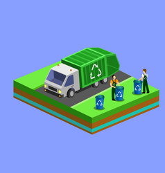 garbage collector truck vector image