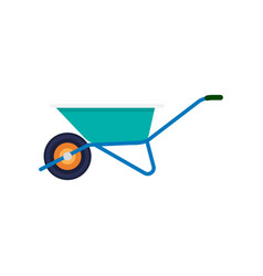 Garden wheelbarrow isolated icon vector