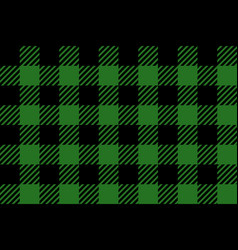 Green and black lumberjack seamless pattern vector