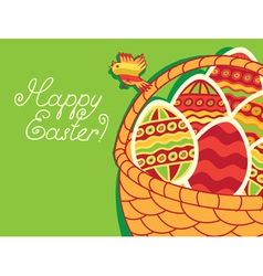Green easter vector