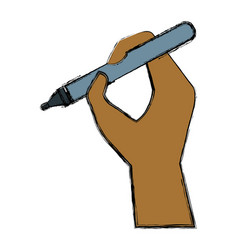hand holding a pen vector image