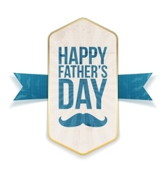 Happy Fathers Day Poster with greeting Ribbon vector image