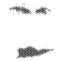Hexagon halftone usa virgin islands map vector