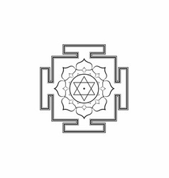 hinduism bhuvaneshwari yantra sacred geometry vector image