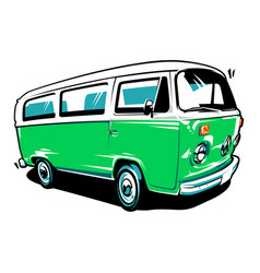 Hippie car art vector