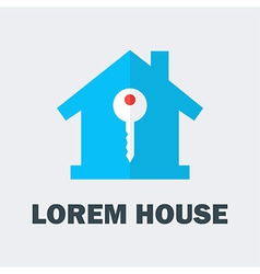 House with Key Logo vector image
