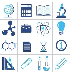 icons a science and education vector image
