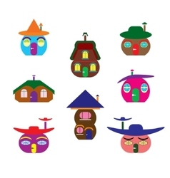 icons houses similar to pumpkin vector image