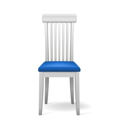 isolated chair vector image