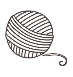 Isolated yarn ball tailor shop design vector