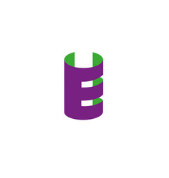 Letter e logo design template elements paper vector