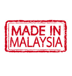 Made in malaysia stamp text vector