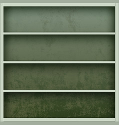 metal empty tool box blank shelves vector image
