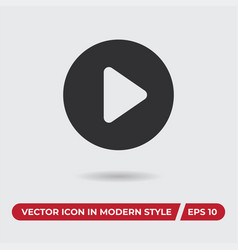 movie player play button icon in modern style for vector image