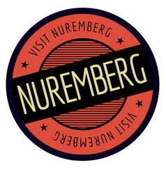 nuremberg geographic stamp vector image