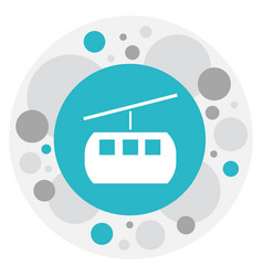 of trip symbol on funicular vector image
