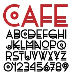 Original font and numbers vector