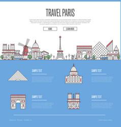 Paris city travel vacation guide vector