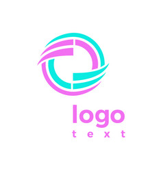 Purple blue logo abstract concept a design vector
