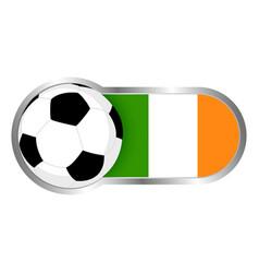 Republic ireland soccer icon vector