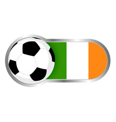 republic of ireland soccer icon vector image