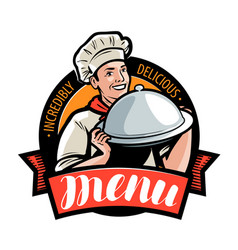 Restaurant or cafe menu logo or label vector