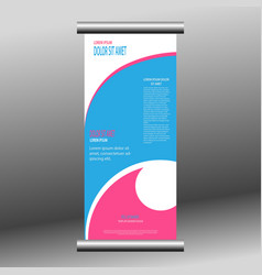 roll-up banner template vector image