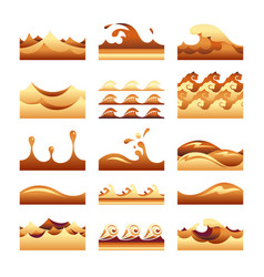 Seamless gradient cream caramel and sand wave vector