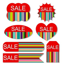 set of colorful sale tags vector image