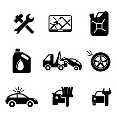 Set ofcar service and automobile icons vector image