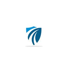 Shield protect abstract logo vector