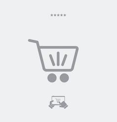 shopping cart minimal icon vector image
