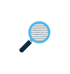 simple magnifying glass analyzing scaning source vector image