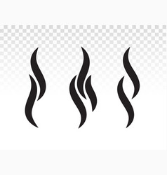 Smoke or steam flame shape for logo or icon design vector