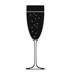 Sparkling champagne icon simple style vector