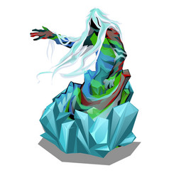 Statue in the form of abstract beings in ice vector