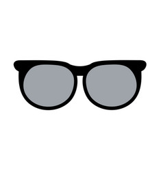 sunglasses lens cartoon vector image